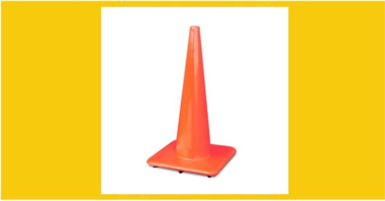 "28"" Orange Traffic Safety Cone"